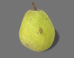 3D asset low-poly Pear Game Ready