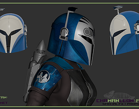 Bo Katan The Mandalorian 3d printable cosplay helmet