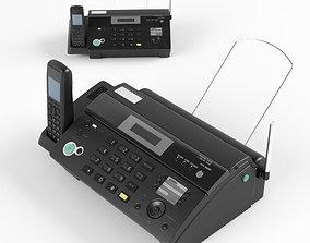 Fax phone black 3D
