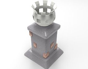 Brazier 3D model low-poly