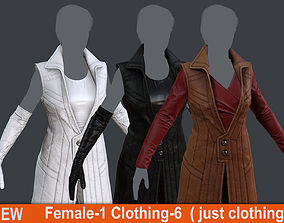 3D model Female 1 - clothing 6 - just clothing