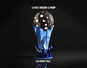 3D printable model Dark Moon Lamp decor