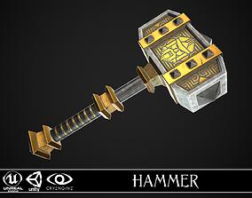 3D model Fantasy Hammer 04