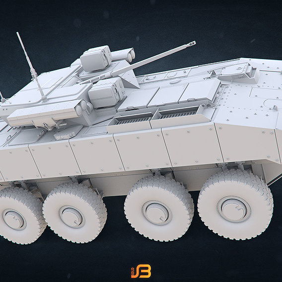 Russian Army Armored Personnel Carrier K-17 Bumerang