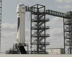3D model New Sheppard and launchpad