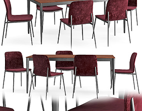 Table and chair Torina Newport 3D model