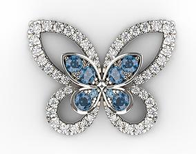 3D printable model Earrings Butterfly
