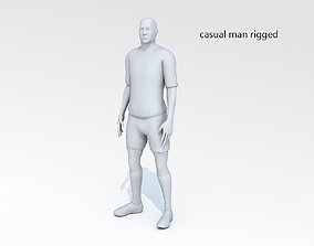 3D model Casual man 04 rigged