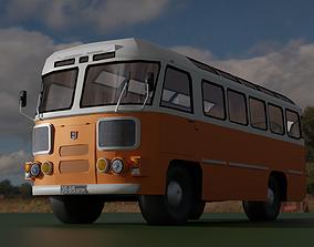 3D asset VR / AR ready PAZ 672 soviet autobus