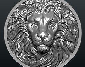 Lion Coin 3D print model art