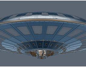 UFO spaceship 3D model spacesuit