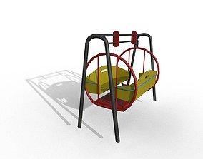 3D model low-poly Park Seesaw