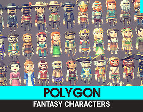 POLYGON MINI - Fantasy Characters Pack 3D asset