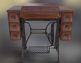 Singer Sewing Table PBR 3D