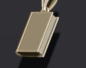 Book pendant 3D print model