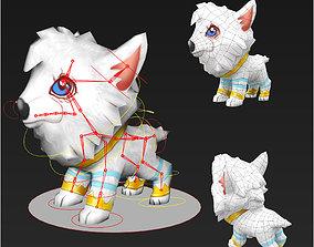 Clash royale style animated Royal Hound fantasy 3D model