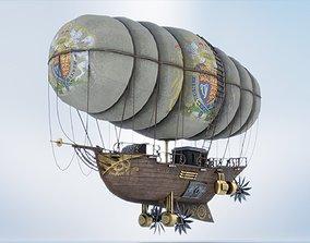 3D model Steambunk airship