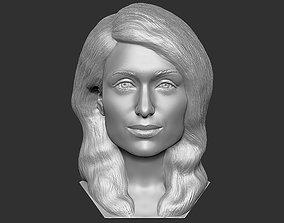 Paris Hilton bust 3D printing ready stl obj formats