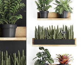 3D model Plant set wall decor vertical garden 401