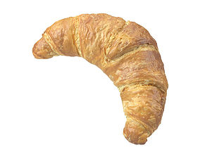 Photorealistic Croissant 3D Scan food