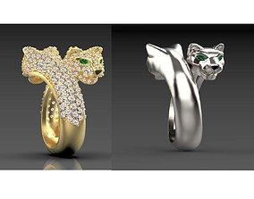 ring female 3D print model pendant cat