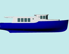 Tour Boat 3D model