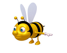 3D model Bee Cartoon