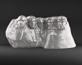 3D print model Mount Rushmore featuring Trump