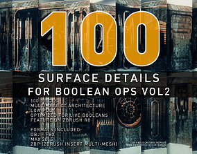 Surface Details For Boolean Operations VOL 2 3D