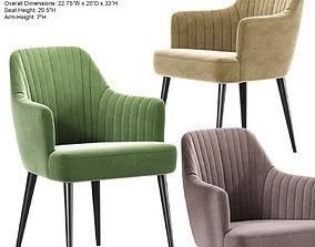 3D Blush Lambert Strip Dining Chair