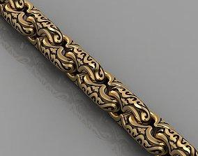 gold necklace 3D print model bracelet