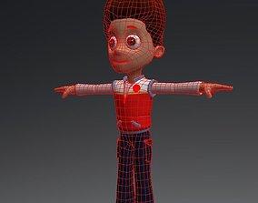 3D asset cartoon man