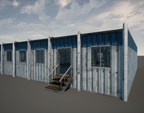 3D asset Military Outpost Building 01