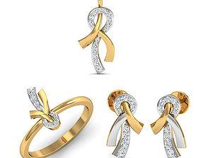 Rhino 3D CAD File Jewelry Set Ring Pendant