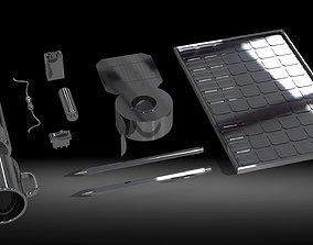 Random items set 3D asset VR / AR ready