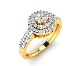 Women Diamond Band Ring 3dm render detail solitaire