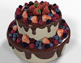 3D Sweet Berry Cake