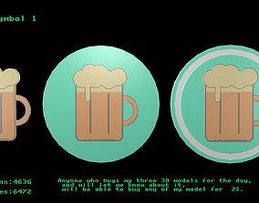 Beer symbol 1 3D model
