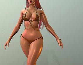 3D asset Realistic Girl dance