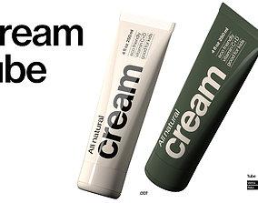 Cream Tube 3D model realtime