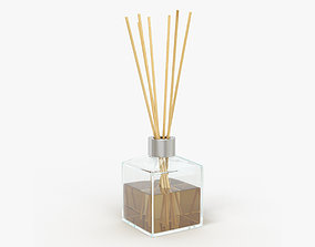 Air refresher bottle with sticks 03 3D