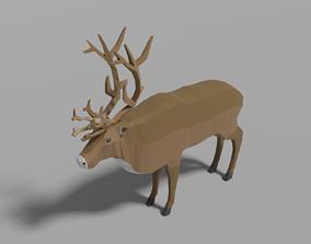 3D model Cartoon Reindeer