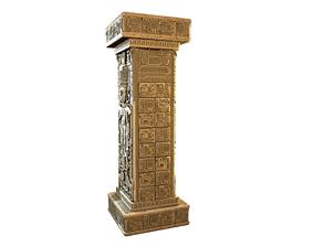 Mayan Pillar 3D