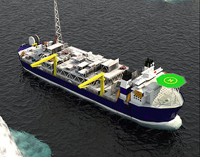 FPSO Alvheim Offshore Oil Rig 3D model