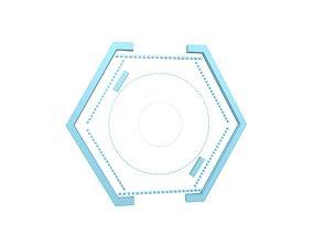 UHD High-tech Graphical Interface v1 001 3D model