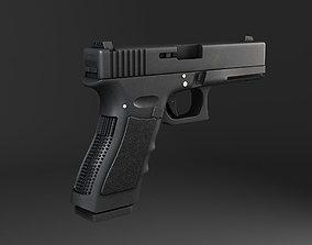 Glock 17 Pistol 3D model VR / AR ready