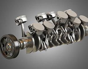3D model V12 Engine -12 Cylinders