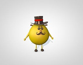 3D Yellow Egg Character