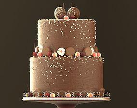 Chocolate Cookie Cake 3D asset