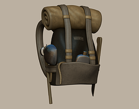 Adventurer Backpack - Camping Character Costume 3D asset